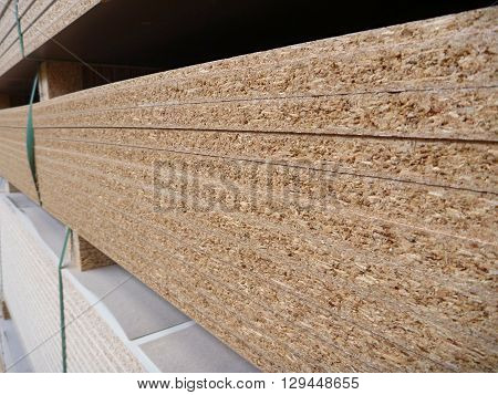 Stock Of Chipboard Boards In Factory
