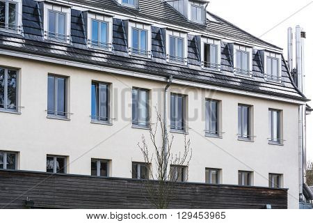 BAD HONNEF GERMANY - MARCH 27 2016: Former school building business school St Anno school brothers in Bad Honnef in Germany on the Rhine.