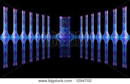 Abstract Corridor Or Display Area For Unique Product Frame Or Emphasis