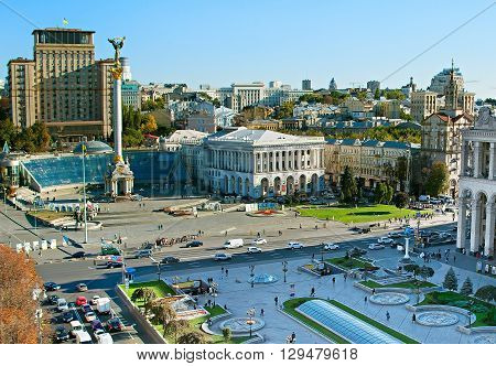 Maidan Nezalezhnosti. Kiev , Ukraine