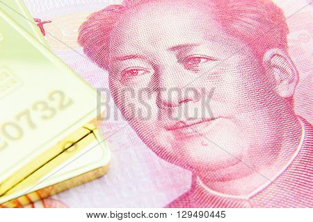 Chinese yuan and gold bullion where China hopes to knock off gold pricing dominance of London and New York and become price setter for gold with the launch its new yuan denominated gold benchmark.