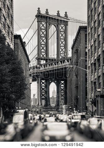 Manhattan Bridge, New York, Usa
