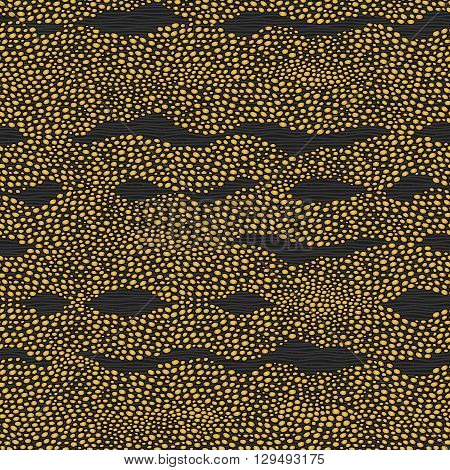 Seamless Pattern With A Waves From Dots.
