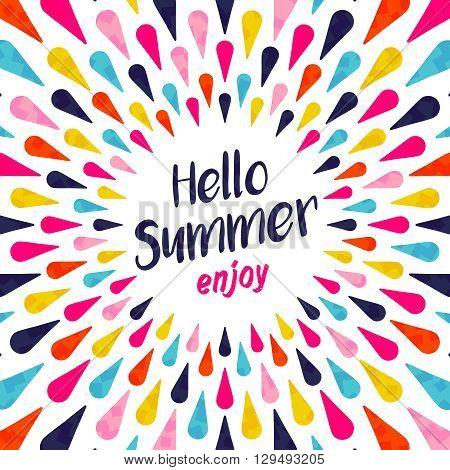 Hello Summer Typography Enjoy Vacation Concept