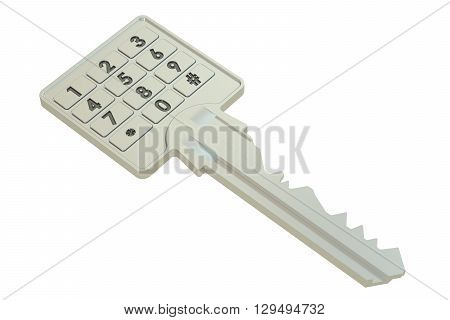 Key with the code combination 3D rendering