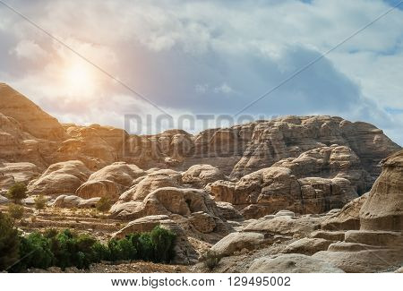 As-Siq Petra, Lost rock city of Jordan. UNESCO world heritage site and one of The New 7 Wonders of the World.