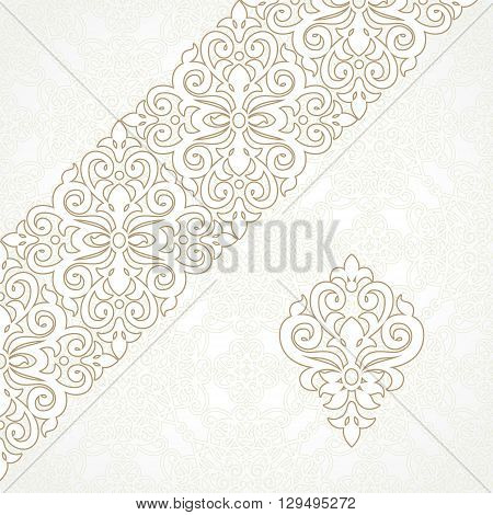 Vector Lace Border In Victorian Style.
