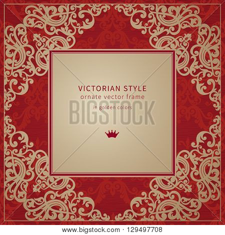 Vector Baroque Frame In Victorian Style.
