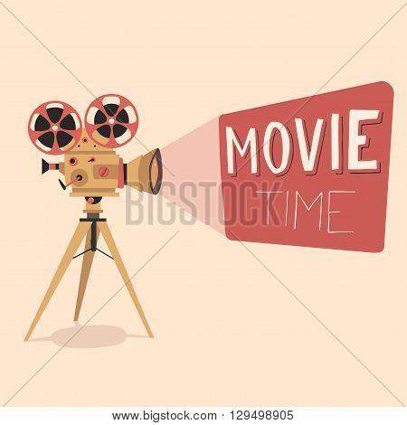 Retro Movie Projector Vector & Photo (Free Trial) | Bigstock