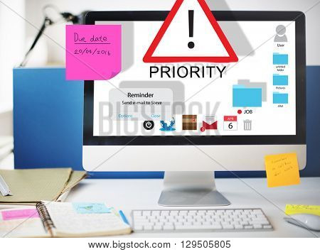 Priority Reminder Remind Agenda Prioritize Concept