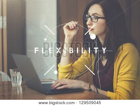 Flexibility Flexible Solution Adjusting Balance Concept poster