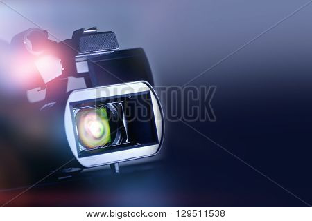 Video Motion Picture Background with Modern Digital Motion Picture Video Camera