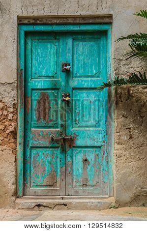 Old wooden door in Stone Town, Zanzibar