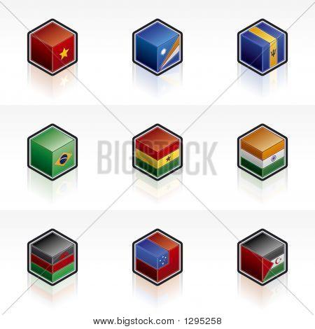 Flag Icons Set - Design Elements 56K