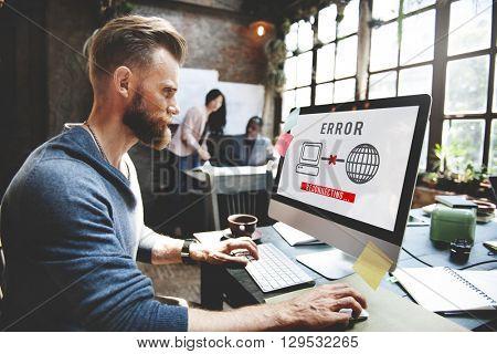Error 404 Alert Crash Wrong Failure Problem Concept poster