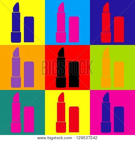 Pomade simple icon. Pop-art style colorful icons set.