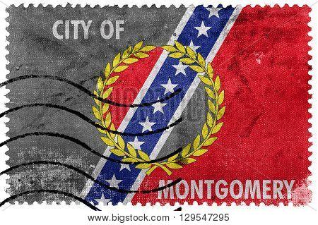 Flag Of Montgomery, Alabama, Old Postage Stamp