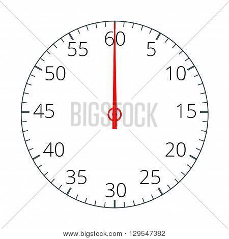 Stopwatch. Stopwatch Icon. Stopwatch icon flat.  Flat 3d vector illustration