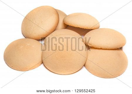 Confectionery sweet biscuits on baking a cake