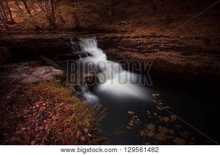 Last of the Autumn falls, near Pontneddfechan in South Wales, UK.