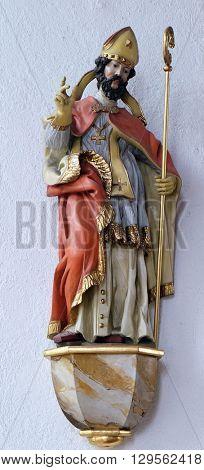 KLEINOSTHEIM, GERMANY - JUNE 08: Statue of Saint in the Saint Lawrence church in Kleinostheim, Germany on June 08, 2015.