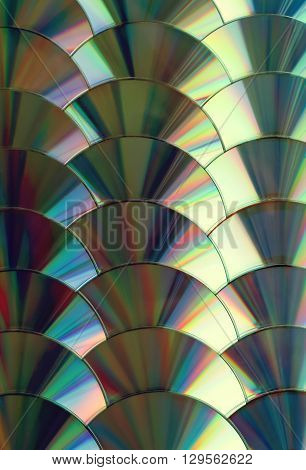 CD and DVD data vertical colorful background