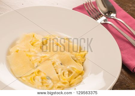 Four Cheese Pasta Close Up