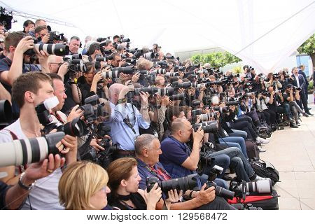 Photographers attends the jury photocall during the 69th annual Cannes Film Festival at Palais des Festivals on May 11, 2016 in Cannes, France.