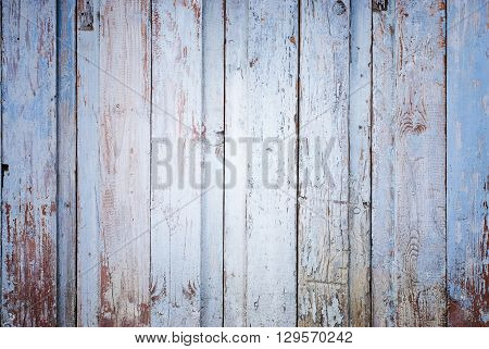 blue and brown vintage wood planks background