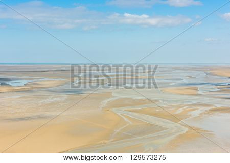 View From Walls Of Mont Saint Michel, France