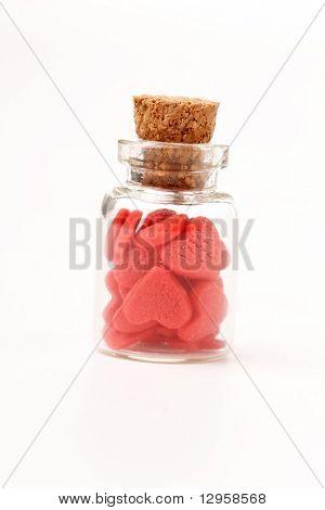 hearts in the bottle