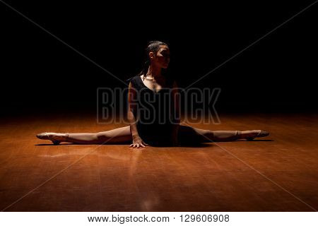 Young Dancer In The Middle Of A Performance