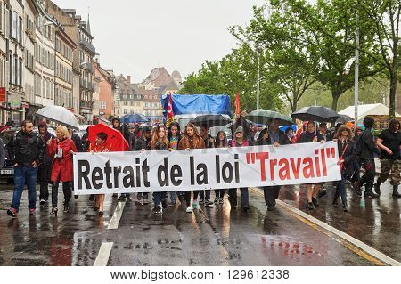 May Protest Against France Labour Reforms