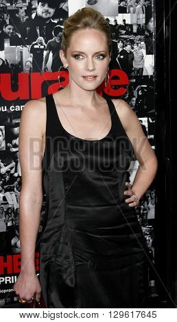 Marley Shelton at the season 3 premiere of HBO's 'Entourage' held at the Cinerama Dome in Hollywood, USA on April 5, 2007.