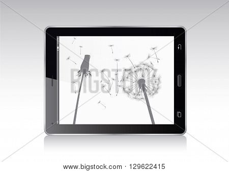 Tablet Vector Illustration. Symbol of Electronic Equipment.