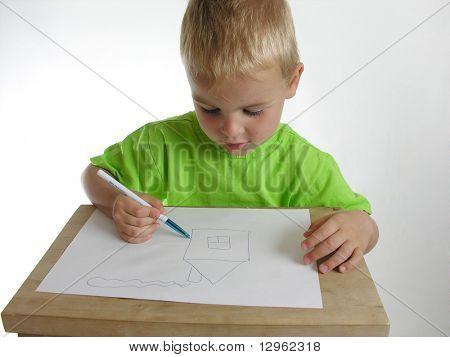child draw home