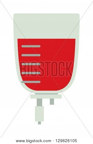 Donate blood pack medical hospital drop transfusion vector illustration. Blood pack donation medical and hospital drop blood donation. Transfusion blood pack donation clinic, help human donor. Blood pack box