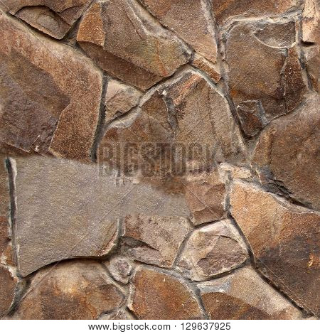 Seamless stone pattern. Old stone wall texture