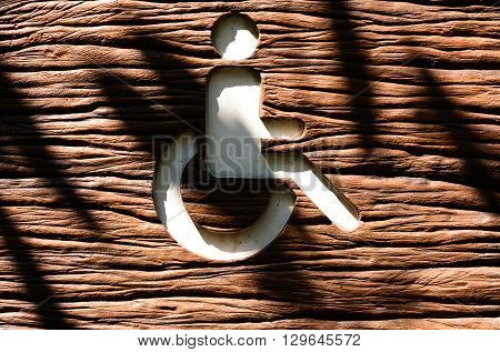 Wood cripple sign. cripple sign background. wooden
