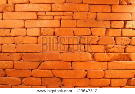 Red brick texture. Brick wall pattern interior or exterior design background