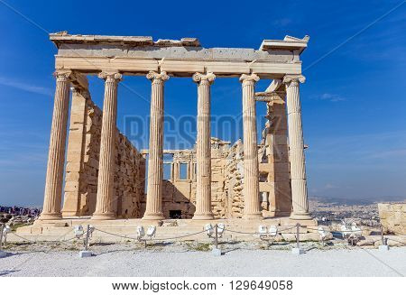 The Erechtheum from the east, Acropolis, Greece
