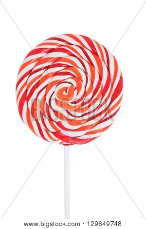 Colorful appetizing lollipops isolated on white background