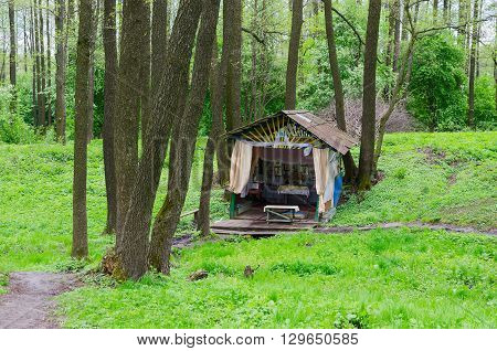 Holy spring in the forest near the village Sherstin Vetka district Gomel region Belarus