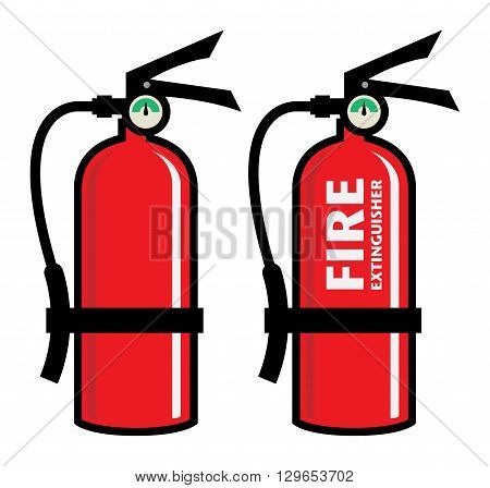 Fire extinguisher on white background, vector illustration