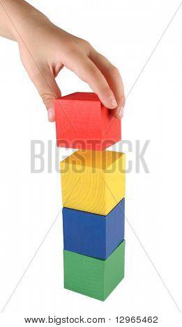 child making tower