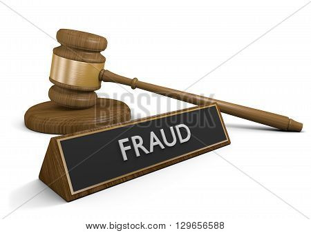 Law enforcement against fraud and other deceptive scams, 3D rendering