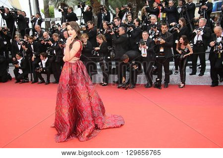 Kristina Bazan attends the 'Slack Bay (Ma Loute)' premiere during the 69th annual Cannes Film Festival at the Palais des Festivals on May 13, 2016 in Cannes, France.
