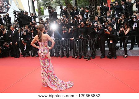Cheryl Cole attends the 'Slack Bay (Ma Loute)' premiere during the 69th annual Cannes Film Festival at the Palais des Festivals on May 13, 2016 in Cannes, France.