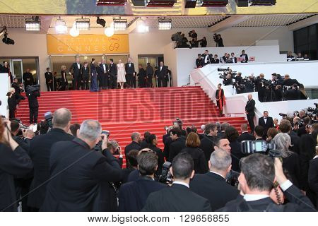 Photographers attends the 'Slack Bay (Ma Loute)' premiere during the 69th annual Cannes Film Festival at the Palais des Festivals on May 13, 2016 in Cannes, France.