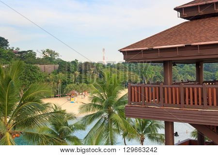 Viewing Tower At Palawan Beach - Southernmost Point Of Continental Asia, Sentosa Island, Singapore